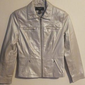 ALFANI PETITE leather  jacket size S